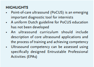 Article: Point-of-care Ultrasound (PoCUS) for the internist