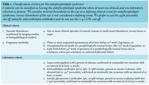 Article: Diagnosing and treating antiphospholipid syndrome: a